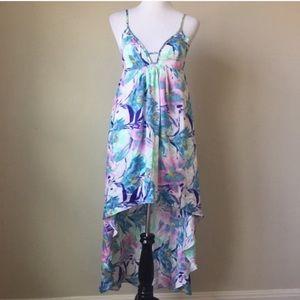 LF Millau Hi-Low BoHo Festival Pastel Maxi Dress